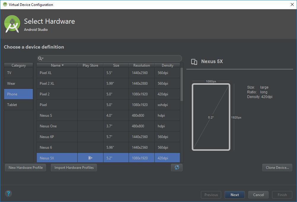 crear dispositivo virtual - Curso Android - mejorprogramacion.com