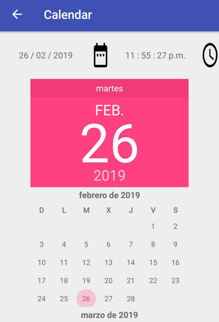 Curso Android Calendario